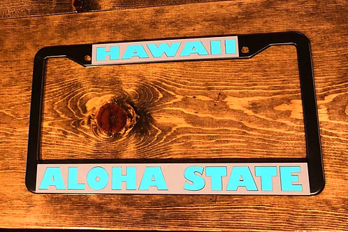 Aloha State License Plate Frame