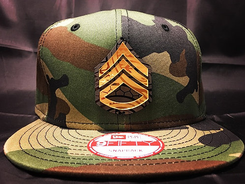 Country Camo with Gold and Black Poly Badge (New Era 9fifty)