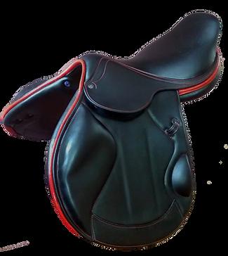 selle cross monoquartier modele hades doublée doublee noire marron disponible chataigne noir et havane fabrication LM Sellier
