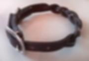collier pour chien tressé cuir existe en noir ou marron sur mesure fabrication LM Sellier