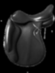 selle dressage modele hestia doublée noire  disponible chataigne noir et havane fabrication LM Sellier