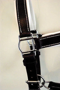 détail licol confort doublé fabrication LM Sellier