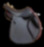 selle mixte modèle gaïa LM Sellier cuir lisse noire et marron