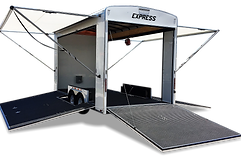 Custom turn key designed trailer with fold down ramp stages