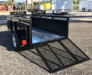 4x8 Steel sides and aluminum floor