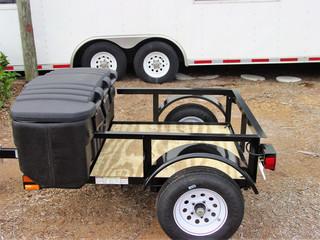 Mini grilling trailer