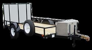 Custom Single Axle open utility trailer c