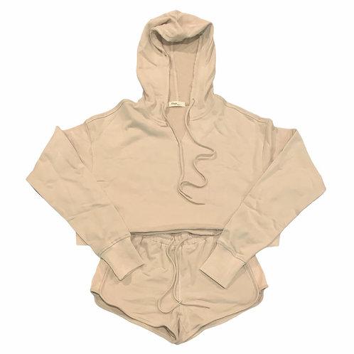 Women's Cropped Hoodie & Short Set