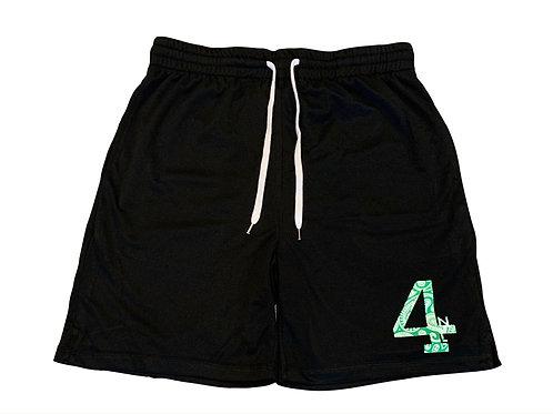 Green Paisley Athletic Shorts