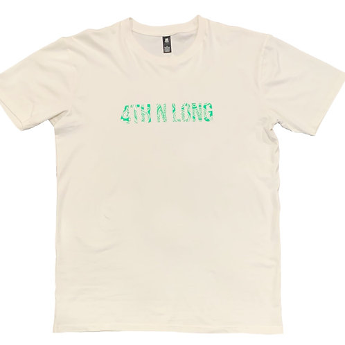 Green Paisely Cream Tee