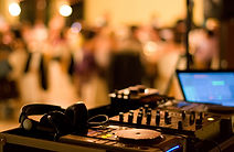 DJ Mixer in use for event entertainment
