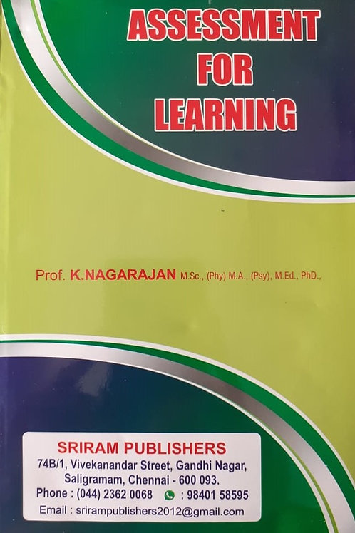 Assessment for Learning - K.Nagarajan
