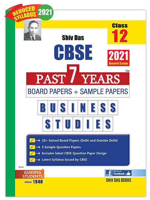 Shiv Das Past 7 Years  Class 12 - Business Studies