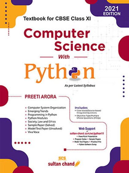 Computer Science with Python Class 11 - Preeti Arora