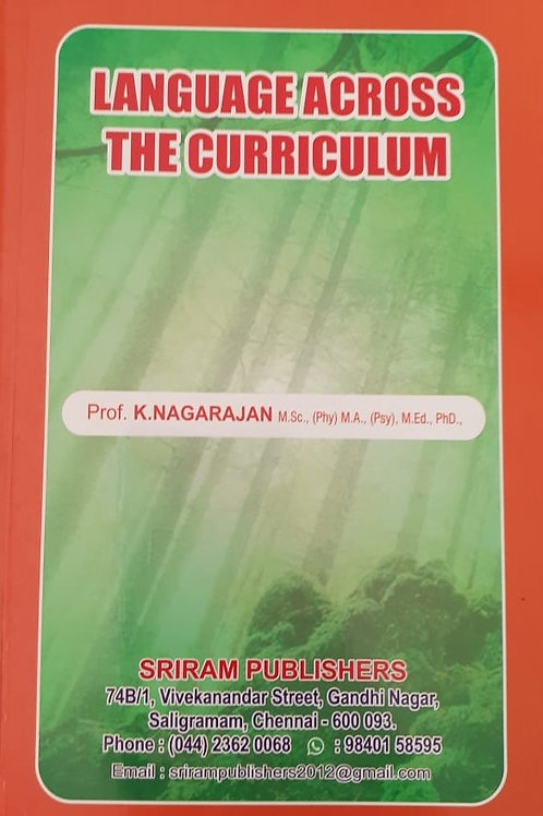 Language Across The Curriculum - K.Nagarajan