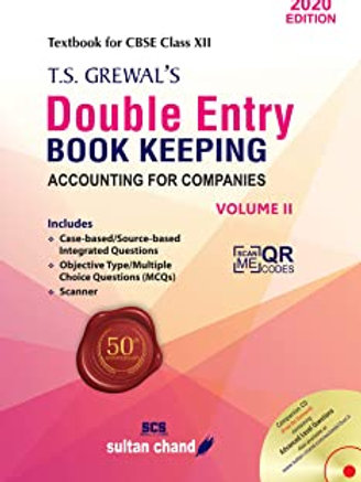 Double Entry Book Keeping Class XII Volume 2 - T.S.Grewal