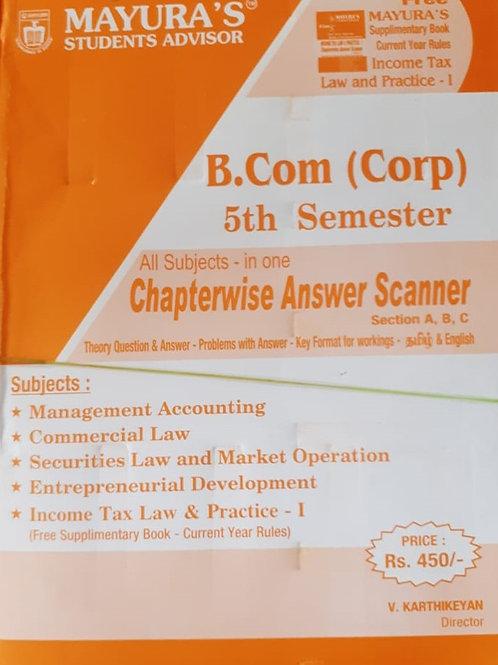 Mayura Scanner - B.com (Corp.) 5th Sem