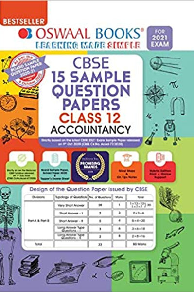 Oswaal Sample Question Papers 12 Accountancy