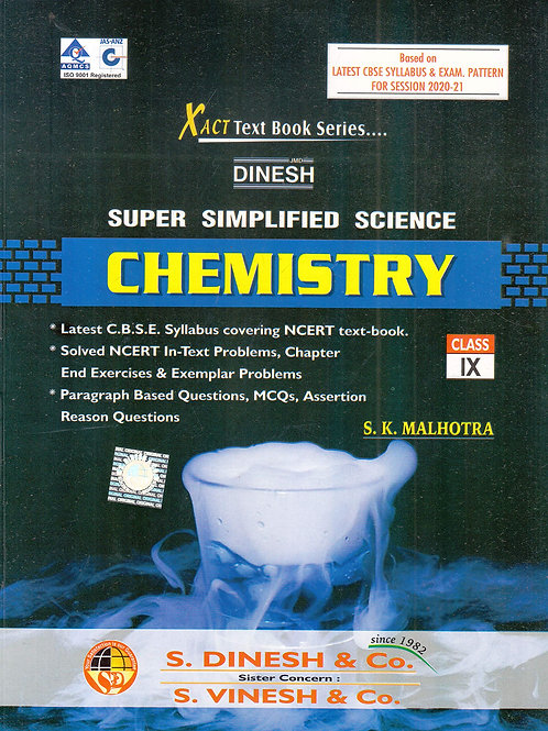 Dinesh Super Simplified Chemistry Class 9