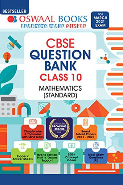 Oswaal Question Bank Class 10 - Maths Standard