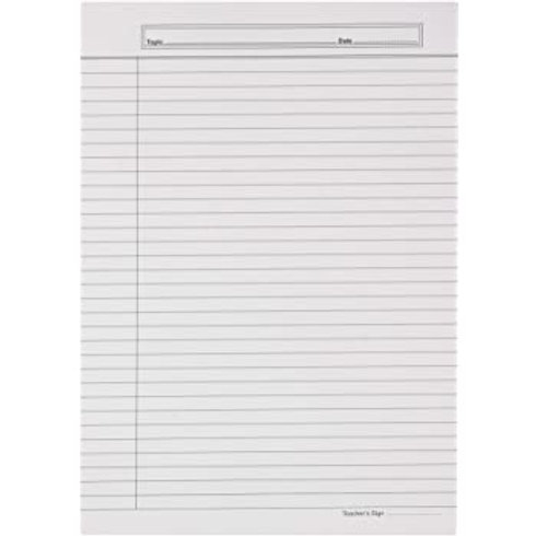 Ruled Sheets - A4 Size - 50Sheets (For Hindi Exams)