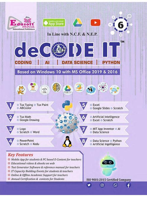 Decode IT & My Dream Book of Artificial Intelligence Class 6