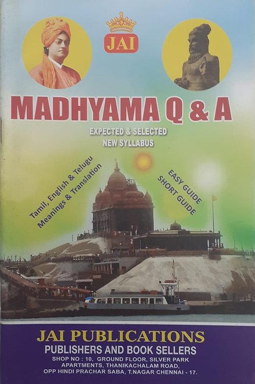Jai Q & A Madhyama Aug 2021