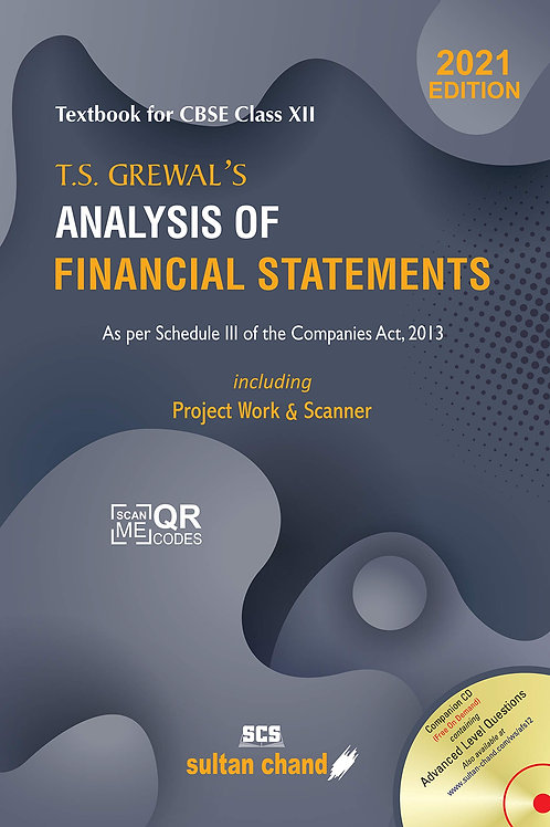 T.S.Grewal's Analysis of Financial Statements Class 12