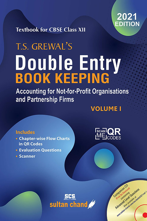 T.S.Grewal's Double Entry Book Keeping Class 12 Volume 1