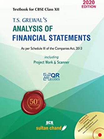 Analysis of Financial Statements Class XII - T.S.Grewal