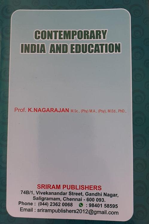 Contemporary India & Education - K.Nagarajan