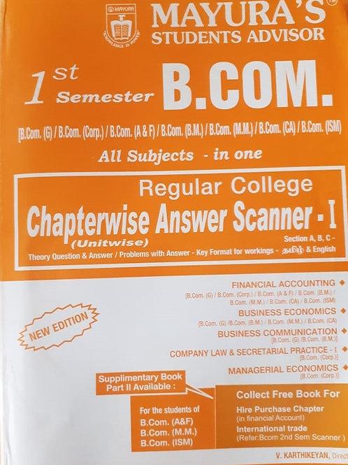 Mayura Scanner - B.com 1st Sem
