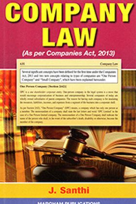 Company Law - J.Santhi