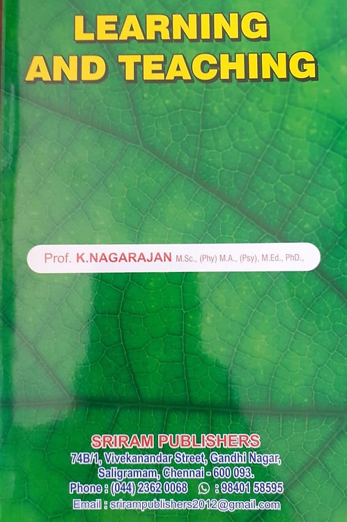 Learning and Teaching - K.Nagarajan
