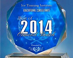 ICE Training Institute Receives 2014 Best of Ormond Beach Award