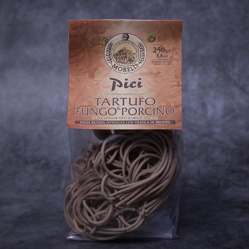 Pasta Morelli Pici al Tartufo e Funghi Porcini 250gr.