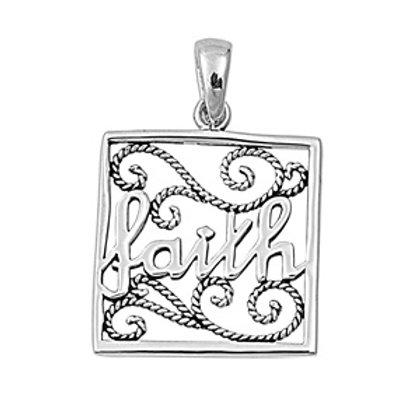 Silver Pendant - Faith