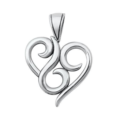Silver Pendant - Heart