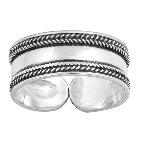 Silver Toe Ring - Bali Design
