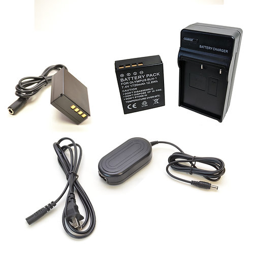 BLH1PRO - BLH1 Style Olympus Battery, Charger, Coupler & AC Adapter Kit
