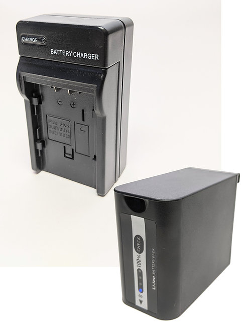 VBD98K - Panasonic Style VBD98 10400mAh Battery w/ LED Indicator & Travel Style