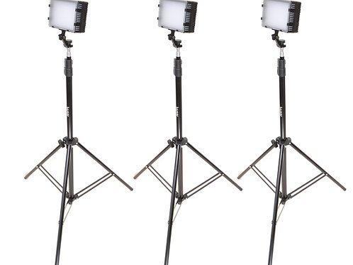 LED125T - Three Piece LED125, Light Stand & AC Adapter Kit