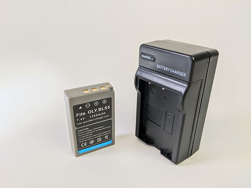 BLS50 - BLS50 Style Battery & Charger for Olympus Cameras