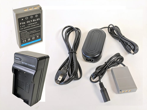 BLS50PRO - BLS50 Style Battery, Charger, Coupler & AC Adapter Kit