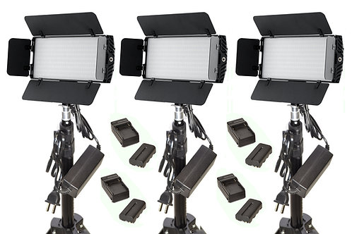 photonTB - Three Piece LED Studio & Battery Kit