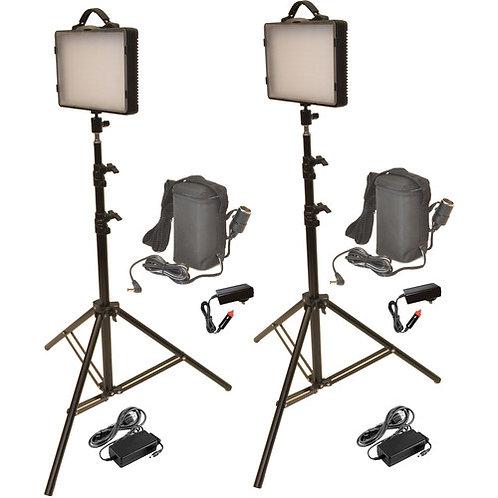 LED200KB - Dual 300W LED Studio Light & Battery Kit