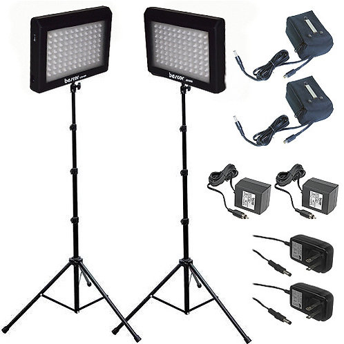 LED95DK2B - Dual 95 Bulb LED & Battery Studio Kit