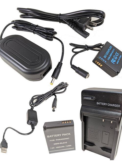 DMWBLG10PRO5V - BLG10 Battery, AC Coupler & USB Adapter Kit