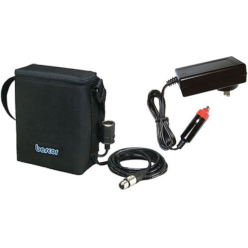 MM9XLRATM - 12v9a SLA Battery Pack w/ 4-Pin XLR & Auto Charger