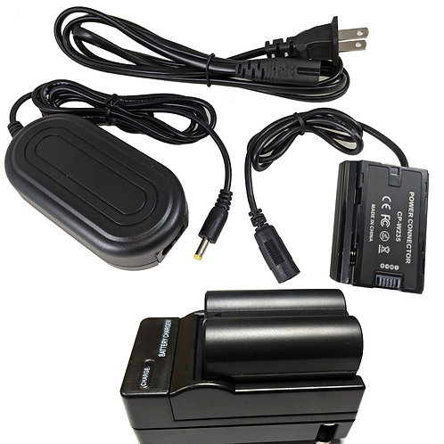 NPW235PRO - Fuji Style NPW235 Battery, Charger, Coupler & AC Adapter Kit